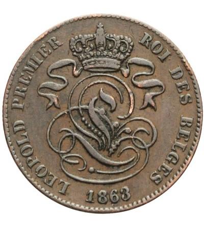 Belgia 2 centimes 1863