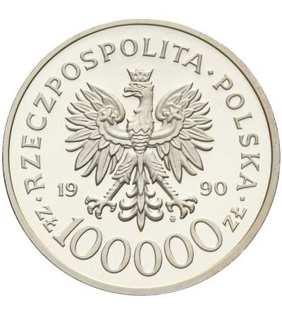 100000 złotych 1990, Solidarność - proof