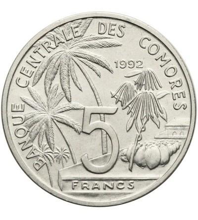 Komory 5 franków 1992
