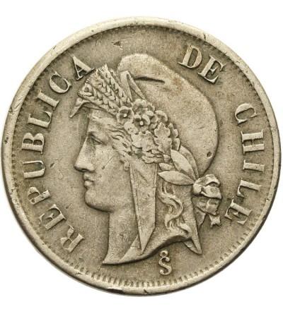 Chile 2 centavos 1873
