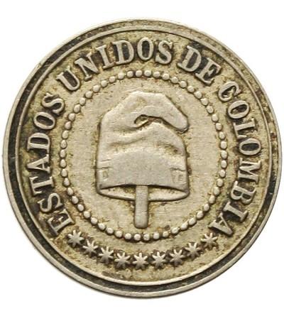 Kolumbia 2 1/2 centavos 1886 H