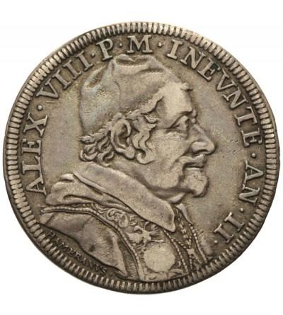 Watykan, Teston AN II / 1690, Rzym, Alexander VIII 1689-1691