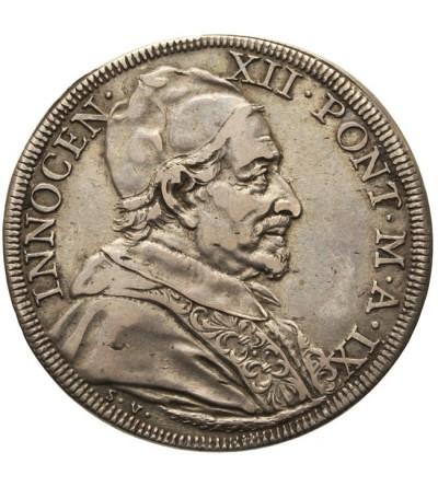 Papal States - Vatican, 1/2 Piastra AN IX 1699, Rome, Innocenz XII