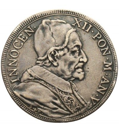 Papal States - Vatican, 1/2 Piastra AN V (1695/1696), Rome, Innocenz XII