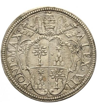 Watykan teston bez daty, Aleksander VII 1655-67