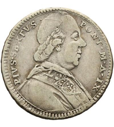 Watykan Giulio ( 1/5 Scudo ) 1783 AN IX, Pius VI