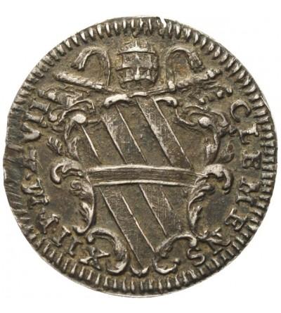 Watykan, Grosso A VIII / 1736, Rzym, Klemens XII 1730-1740