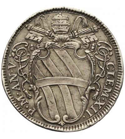 Watykan, Teston AN V 1734, Rzym, Klemens 1730-1740