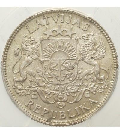 Łotwa 1 lats 1924, PCGS MS 64