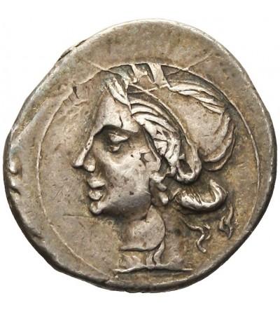 Bruttium. AR 1/4 Schekel 216 / 211 r. p.n.e.