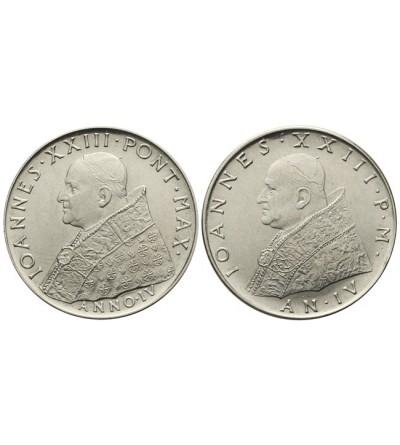 Watykan zestaw 100 lire 1962 / IV, Jan XXIII - 2 sztuki