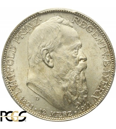 Bavaria 2 marki 1911 - PCGS MS 64