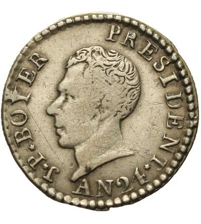 Haiti 25 centimes 1827 / AN24
