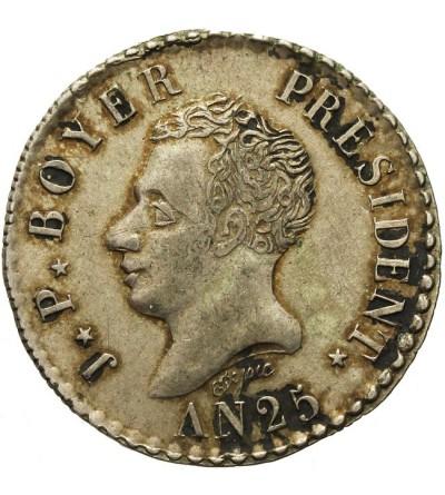 Haiti 50 centimes 1828 / AN 25