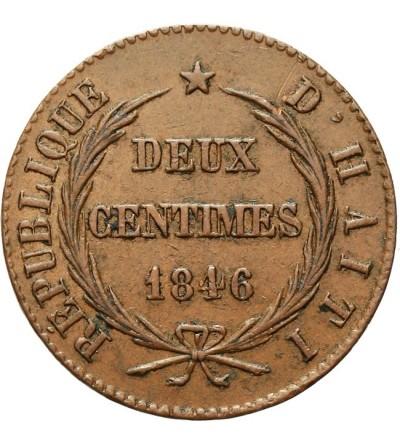 Haiti 2 centimes 1846 / AN 43 / 2
