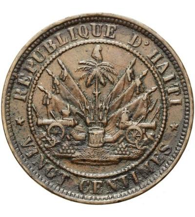 Haiti 20 centimes 1863