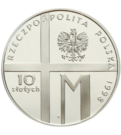10 zlotych 1998, 20th Anniversary of Pontificate