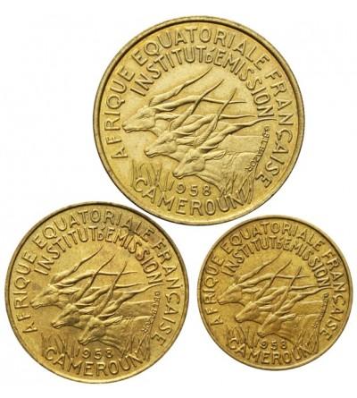 Kamerun  5, 10, 25 franków 1958
