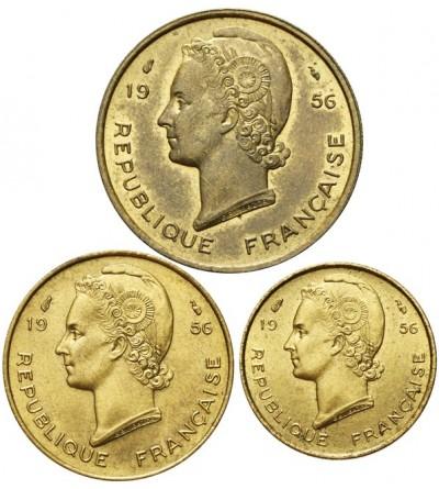 Francuska Afryka Zachodnia 5, 10, 25 franków 1956