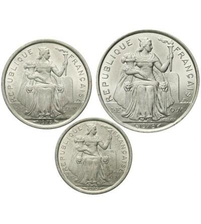 Francuska Polinezja 1, 2, 5 franków 1973 - 1975