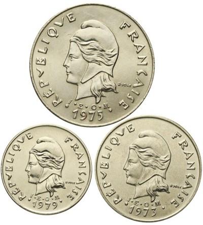 Francuska Polinezja 10, 20, 50 franków 1973 - 1979