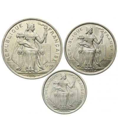 Nowa Kaledonia 1, 2, 5  franków 1973 - 1986