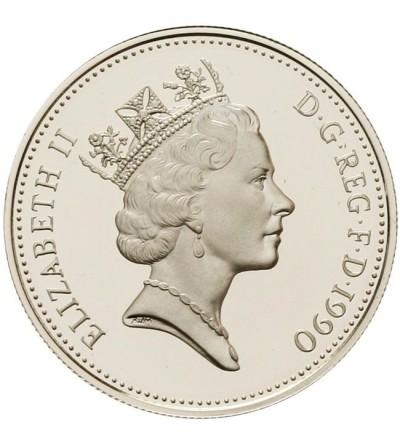 Wielka Brytania 5 pensów 1990 - odbitka w srebrze