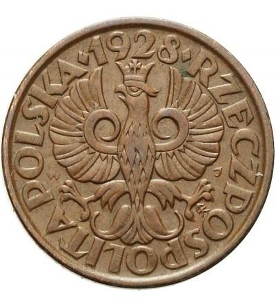 2 grosze 1928, Warszawa