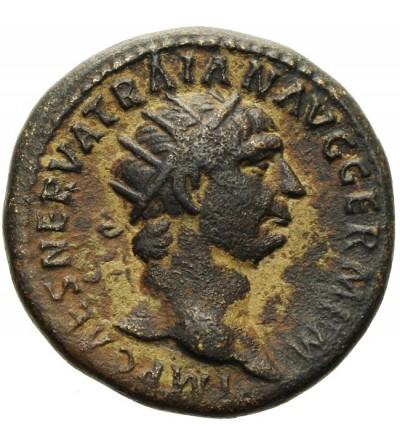 Trajan 98-117. AE Dupondius