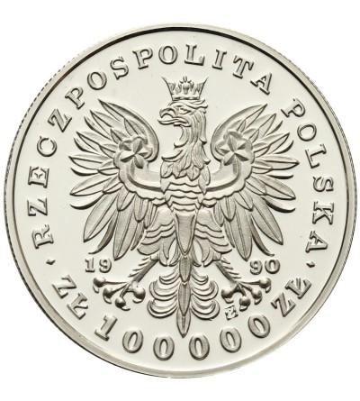 Polska 100000 złotych 1990, Piłsudski