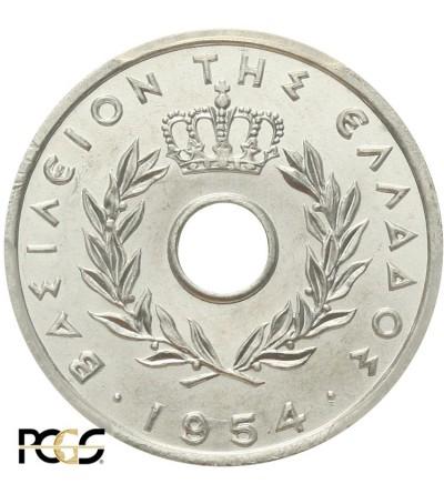 Grecja 20 lepta 1954, PCGS MS 64