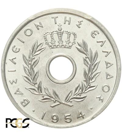 Grecja 10 lepta 1954, PCGS MS 65