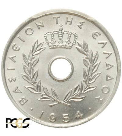 Grecja 5 lepta 1954, PCGS MS 64
