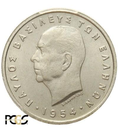 Grecja 5 drachm 1954, PCGS MS 64