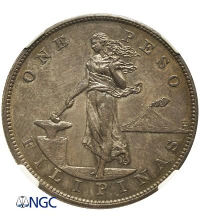 Filipiny peso 1903, NGC AU Details