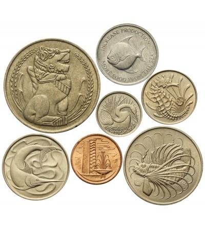 Singapur zestaw monet 1967 - 7 sztuk