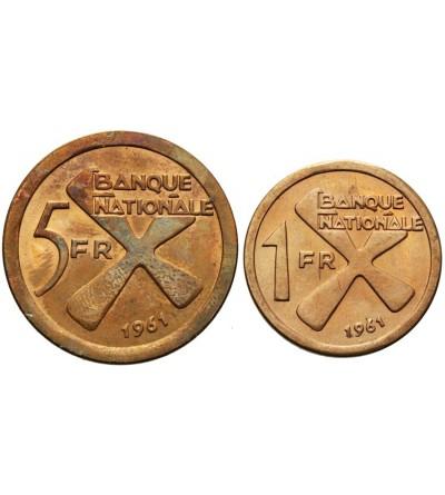 Katanga 1 i 5 franków 1961