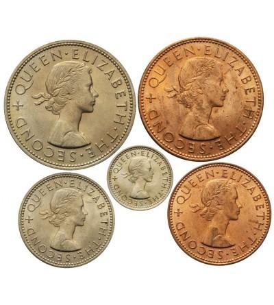 Nowa Zelandia zestaw menniczy 1963 - 5 sztuk