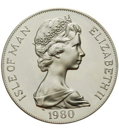 Wyspa Man 1 korona 1980, 80 urodziny Królowej Matki