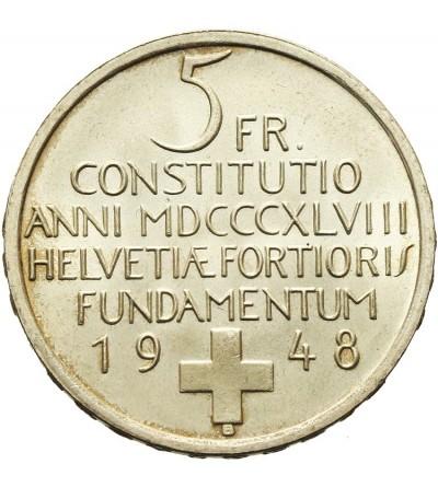 Szwajcaria 5 franków 1948 B