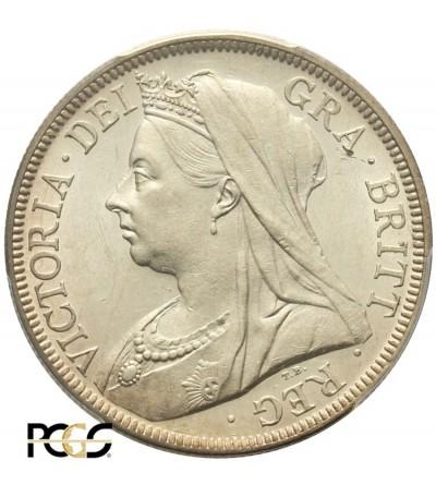 Wielka Brytania 1/2 korony 1900. PCGS AU 58