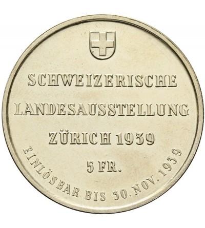 Szwajcaria 5 franków 1939 B