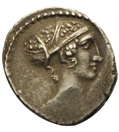 Rzym Republika. AR Serrate Denar L. Roscius Fabatus 59 r. p.n.e.