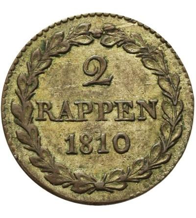 Szwajcaria Bazylea 2 Rappen 1810