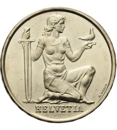 Switzerland 5 Francs 1936 B