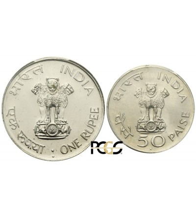 Indi Republika 50 paise i 1 rupia 1969. Ghandi