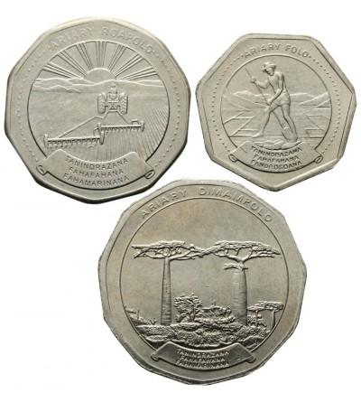 Madagaskar 10, 20, 50 ariary 1999, 1994, 1996