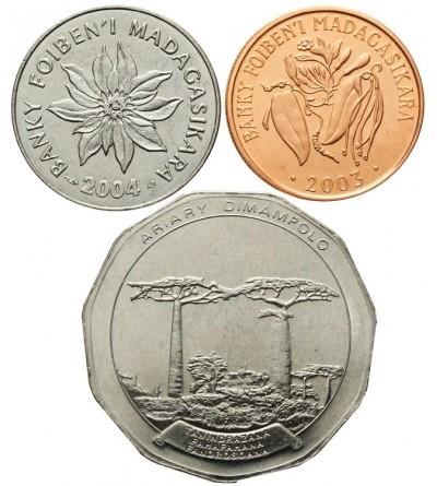 Madagascar  1, 2, 50 Ariary 2003, 2004, 2005