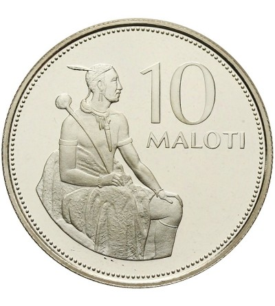 Lesotho 10 Maloti 1980, Proof