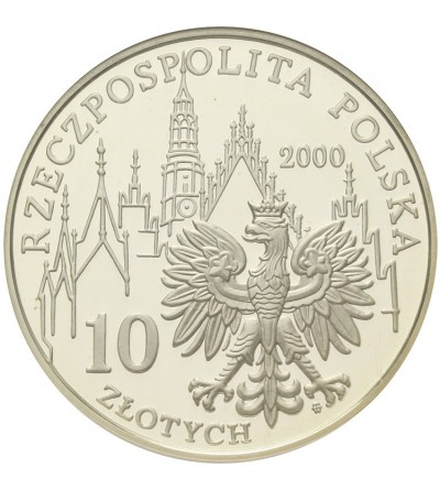 Poland 10 zlotych 2000, 1000 Years of Wroclaw. GCN PR70